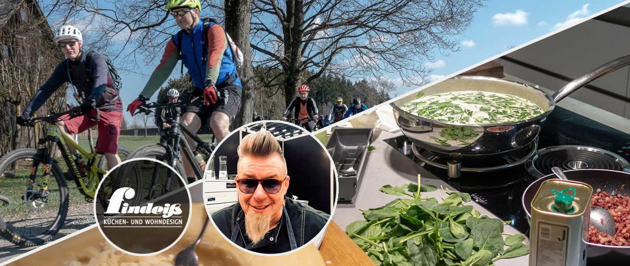 Bike & Pasta mit MTB Guide&Tech und Küchencenter Findeiß
